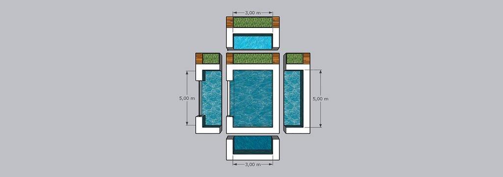 Cómo calcular los metros cuadrados de una piscina de forma total